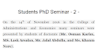 Students PhD Seminar - 2 -